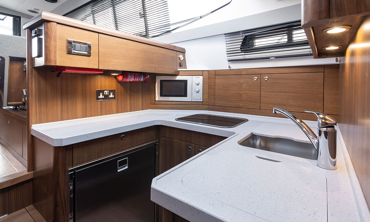 Haines 36 Offshore galley
