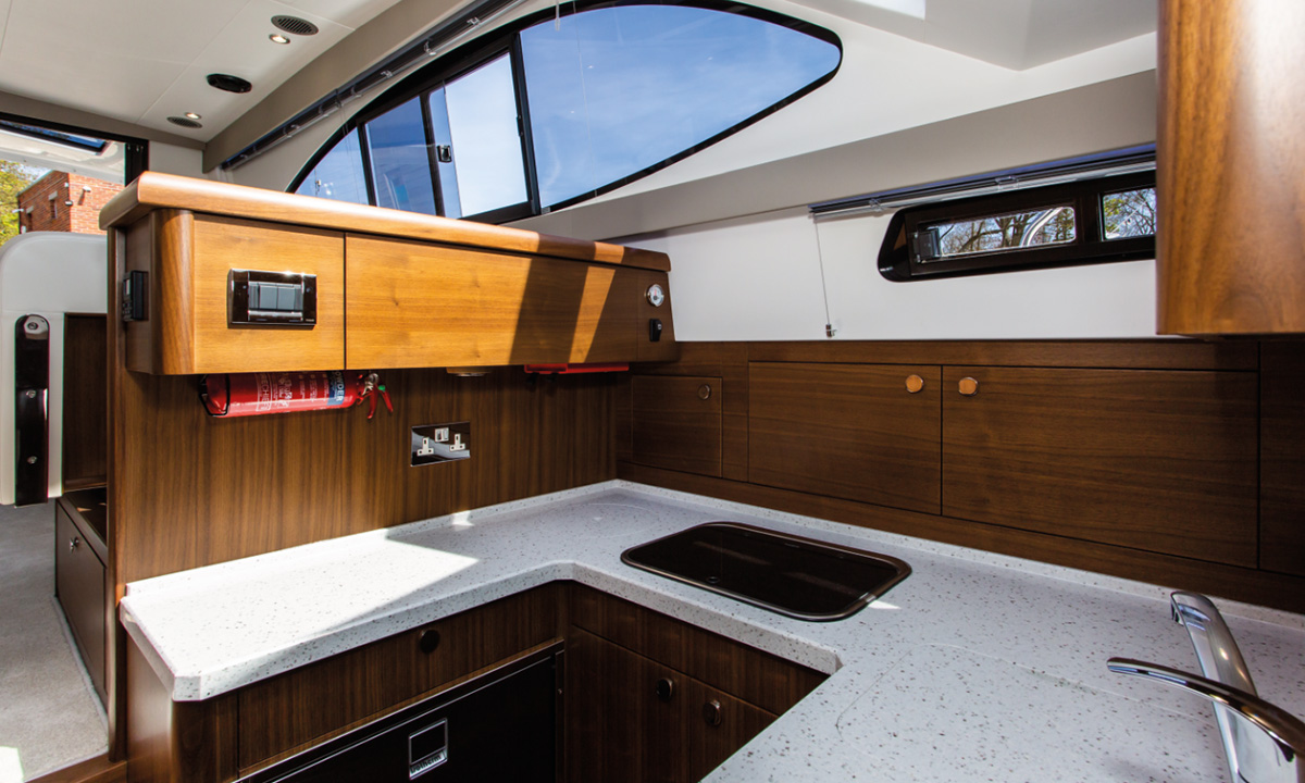 Haines 36 Sedan galley